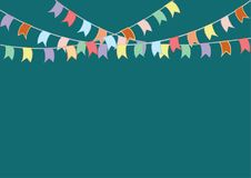 Buntings flags garlands. Celebrate banner. Party flags. Royalty Free Stock Image