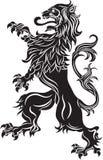 Buntownika lew - heraldyczny symbol Zdjęcie Stock