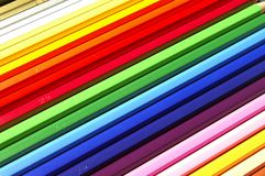 Buntstifte. A case of coloured pencils Stock Photography