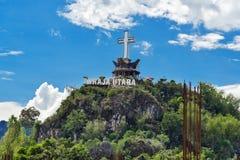 Buntu Singki is bergpiek dichtbij Rantepao, Zuiden Sulawesi, Indonesië Stock Foto
