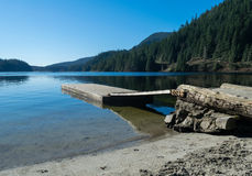 Buntzen lake dock Royalty Free Stock Images