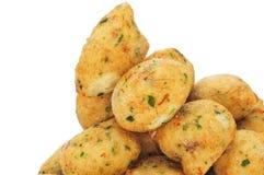 Bunuelos de bacalao, beignets espagnols de morue Photographie stock libre de droits