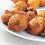 Bunuelos de bacalao, spanish cod fritters Stock Photo