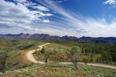Bunyeroo Valley Road stock image