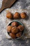 Bunyols de Quaresma, Catalan pastries eaten in Lent Stock Photos