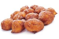 Bunyols de Quaresma, typical pastries of Catalonia, Spain, eaten Royalty Free Stock Photos