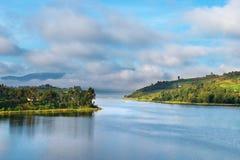 Bunyonyi lake in Uganda. African landscape, Bunyonyi lake, Uganda Stock Photos
