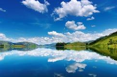 Bunyonyi Lake in Uganda Royalty Free Stock Photo