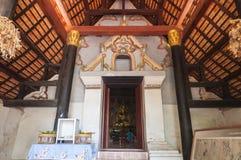 Buo de nhong de Wat et village thaïlandais de moine Images libres de droits