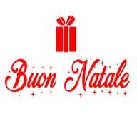 Buon纳塔莱,圣诞快乐 图库摄影