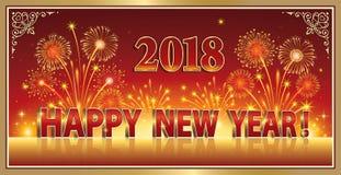 Buon anno 2018 Fotografia Stock