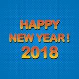 Buon anno 2018 illustrazione di stock