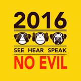 Buon anno 2016 Immagini Stock