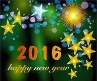 Buon anno 2016 Fotografie Stock Libere da Diritti