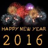 Buon anno 2016 Fotografia Stock Libera da Diritti