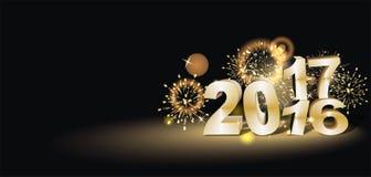 Buon anno 2017 Fotografie Stock