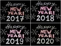 Buon anno 2017, 2018, 2019, 2020 illustrazione vettoriale