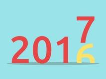 Buon anno 2017 illustrazione di stock