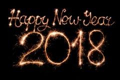 Buon anno 2018 Fotografie Stock Libere da Diritti
