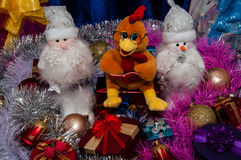 Buon anno, anno del gallo Immagine Stock