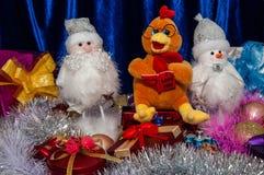 Buon anno, anno del gallo Fotografia Stock