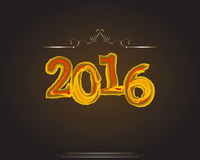 Buon anno 2016 Anno della scimmia Immagini Stock Libere da Diritti