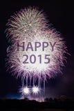 Buon anno 2015 con i fuochi d'artificio Fotografie Stock