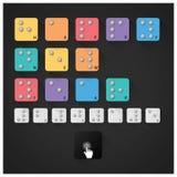 Buon anno 2015 con l'alfabeto di Braille Immagini Stock