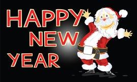 Buon anno con la carta di Santa Claus Immagine Stock Libera da Diritti