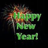 Buon anno dei fuochi d'artificio Fotografia Stock