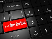 Buon anno del bottone fotografia stock libera da diritti