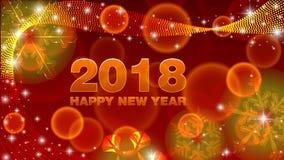 Buon anno 2018 del fondo di vettore immagine stock libera da diritti