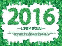 buon anno dell'edera di 2016 foglie Fotografie Stock