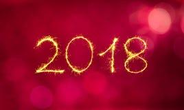 Buon anno 2018 della cartolina d'auguri Immagine Stock