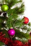 buon anno delle decorazioni dell'Natale-albero Fotografia Stock
