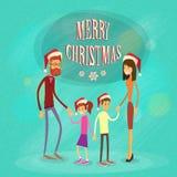 Buon anno di festa di Buon Natale della famiglia Fotografia Stock Libera da Diritti
