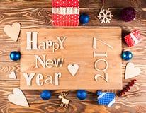 Buon anno di legno dell'iscrizione Fotografia Stock Libera da Diritti
