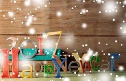Buon anno di legno dell'iscrizione Immagine Stock Libera da Diritti