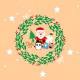 Buon anno di Natale del modello illustrazione di stock