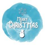 Buon anno di Buon Natale fondo della cartolina d'auguri di 2018 inverni con il fumetto sveglio Illustrazione di vettore Fotografia Stock