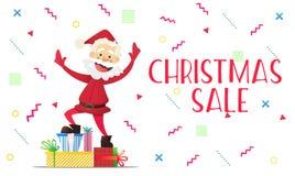 Buon anno di Santa Claus e sconti di Natale Immagini Stock
