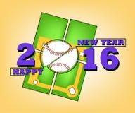 Buon anno e baseball illustrazione vettoriale