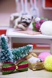 Buon anno e Buon Natale con gli animali Fotografie Stock