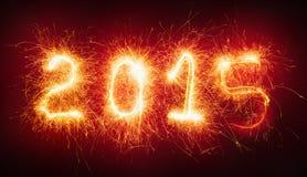 Buon anno, numeri ardenti Immagine Stock Libera da Diritti