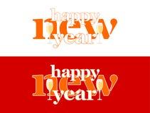 Buon anno - parole sulla parola e su due vetri di champagne royalty illustrazione gratis