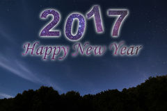Buon anno 2017 Priorità bassa di nuovo anno felice Cielo notturno Fotografie Stock