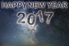 Buon anno 2017 Priorità bassa di nuovo anno felice Cielo notturno Immagine Stock