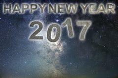 Buon anno 2017 Priorità bassa di nuovo anno felice Cielo notturno Fotografia Stock Libera da Diritti