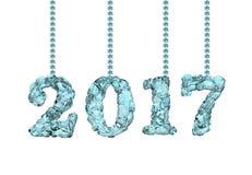 Buon anno 2017, rappresentazione 3D Immagini Stock