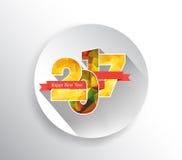 Buon anno 2017 Saluti di stagioni Progettazione poligonale royalty illustrazione gratis